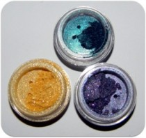 mattify cosmetics long lasting eye shadows crease free gold purple teal eye makeup