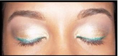 Teal & Gold Eye Makeup Look - Shorty2Sweet's Blog
