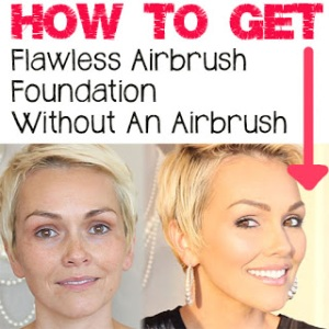 makeup for oily skin, how to apply airbrush makeup, kandee johnson how to do airbrush makeup for oily skin without spray gun using fingers or brush