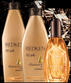 redken diamond shine oil silicone free hair conditioner leave in and shampoo