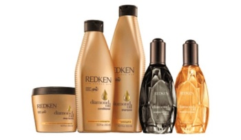 Review Redken diamond oil line shampoo conditioner and shine serum without silicones for dry hair