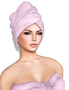woman with towel on head hair makeup for oily skin blog mattify cosmetics how to get glowing skin